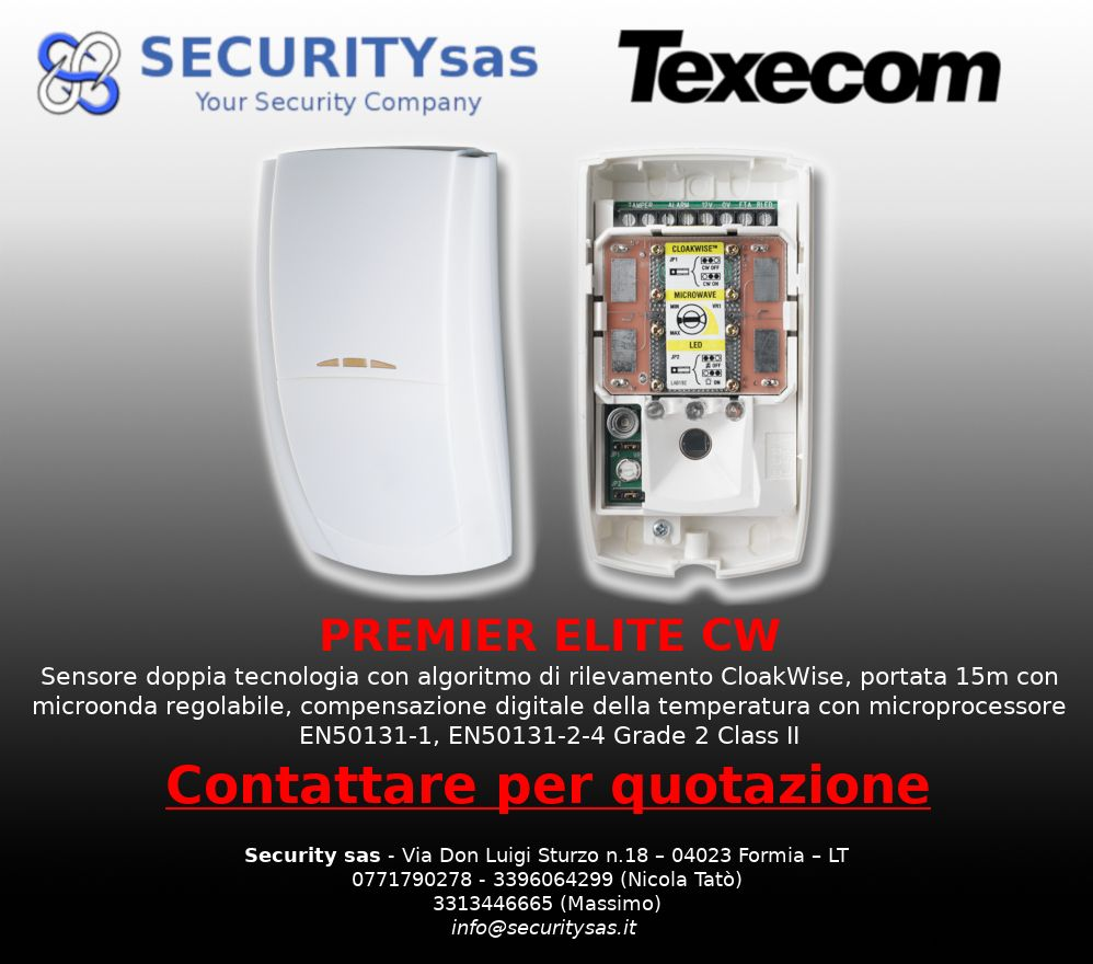 Texecom offerta sensori